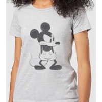 Disney Mickey Mouse Angry Women's T-Shirt - Grey - 3XL - Grey