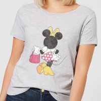Disney Mickey Mouse Minnie Mouse Back Pose Women's T-Shirt - Grey - 3XL - Grey