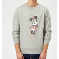 Disney Mickey Mouse Minnie Mouse Offset Sweatshirt - Grey - M - Grey