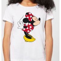 Disney Mickey Mouse Minnie Split Kiss Women's T-Shirt - White - 3XL - White